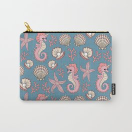 Unicorn Seahorse Carry-All Pouch