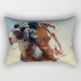 "William Leigh Western Art ""Indian Rider"" Rectangular Pillow"