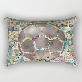 Soccer Ball on Philately Rectangular Pillow