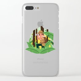 Exploring The Jungle Clear iPhone Case