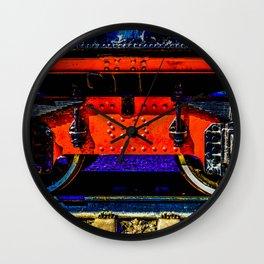 Vintage Steam Engine Locomotive Trailing Wheels Wall Clock