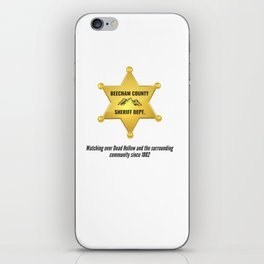 Beecham County Sheriff iPhone Skin