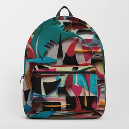 Electricity- Abstract Geometric Collage  Backpack