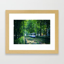 Polish Tram. Framed Art Print