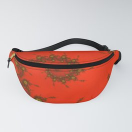 Red fractal. Abstract pattern Fanny Pack