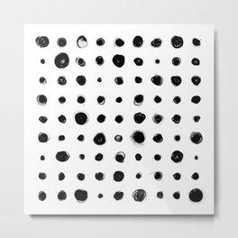 81 Attempts (black) Metal Print