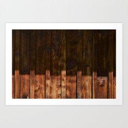 Barnwood Texture Art Print