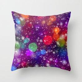 Whimsical abstract purple pink orange geometrical Throw Pillow