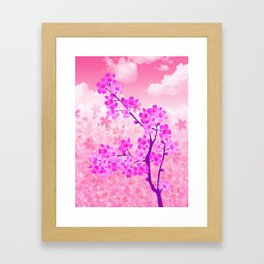 Cherry Blossom - Variation 4 Framed Art Print