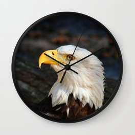 In The Eye Of A Raptor Wall Clock