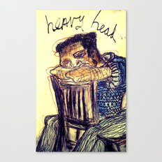 Heavy Head Canvas Print