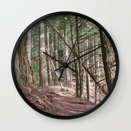 SHADOWS ON A WOODLAND PATH Wall Clock