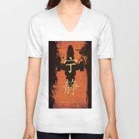 firefly V-neck T-shirts featuring Firefly by Edmond Lim