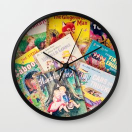 Little Vintage Library Wall Clock