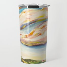 Color clouds in the valey Travel Mug
