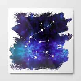 Aquarius Star Sign Metal Print