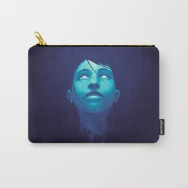 Luminescent Sapphire Carry-All Pouch