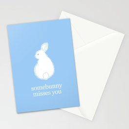 bunny one Stationery Cards