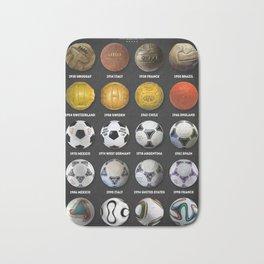 The World Cup Balls Bath Mat
