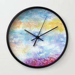 Sky Watercolor Art Illustration Wall Clock