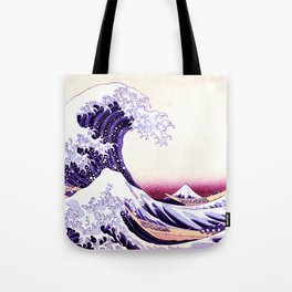 The Great wave purple fuchsia Tote Bag
