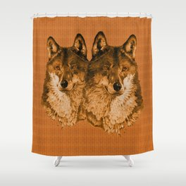 Season of the Wolf - Duet in Gold Shower Curtain