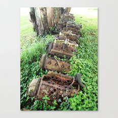 Engine Graveyard Canvas Print