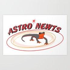 Astro Newts Art Print