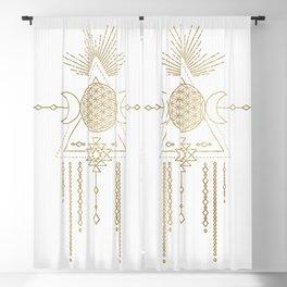 Golden Goddess Mandala Blackout Curtain