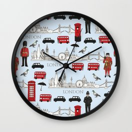London Skyline and Icons Wall Clock