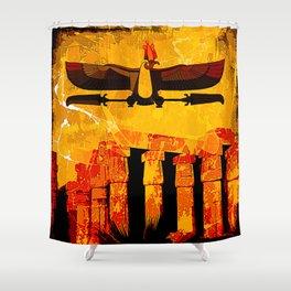 Ra, god of the sun Shower Curtain