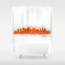 Philadelphia City Skyline Hq V3 Shower Curtain