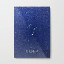Constellations - LIBRA Metal Print