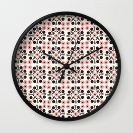 Gem Tiles Coral Wall Clock
