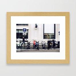 streets of paris Framed Art Print