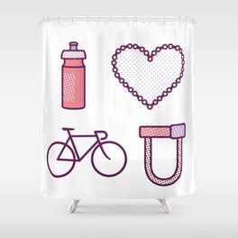 I ♥ 2 Ride U (Color Option) Shower Curtain
