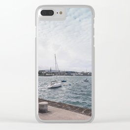 Boats docked Clear iPhone Case
