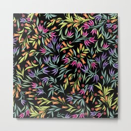pattern with different wild flowers Metal Print