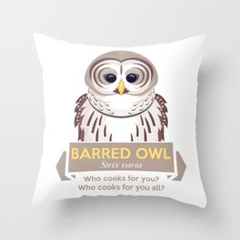 Cry of the Barred Owl Throw Pillow