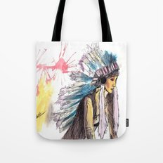 Young Warrior Dreams Tote Bag