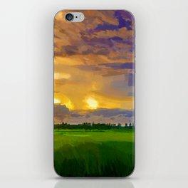 hurricane storm landscape digital oil painting akvop std iPhone Skin