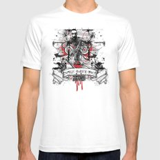 Zombie Mens Fitted Tee White SMALL
