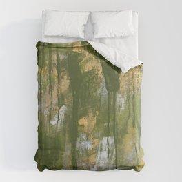 Green Grunge Duvet Cover