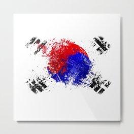 Flag brush Metal Print