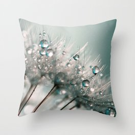 Pretty Dewdrops Throw Pillow