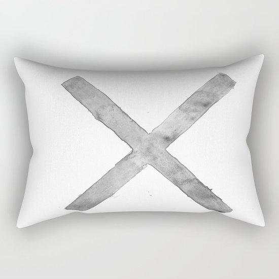 BLACK AND WHITE CROSS Rectangular Pillow