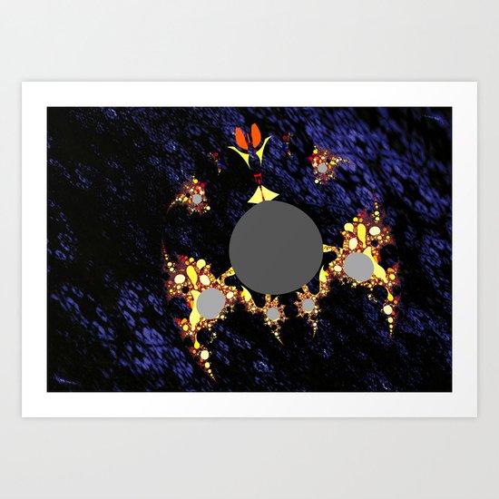 foreign moon walker Art Print