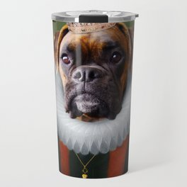 Queen Charlie - Boxer Dog Portrait Travel Mug