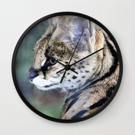Serval Cat Wall Clock