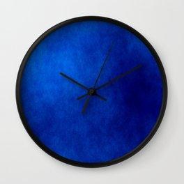 Misty Deep Blue Wall Clock